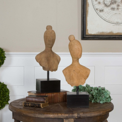Arlie, Sculptures, Set of Two (Carved mango wood)